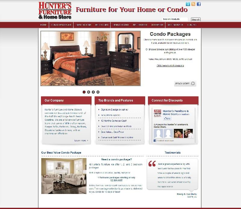 Furniture store web site Furniture Store Web Site  - Hunter`s Furniture