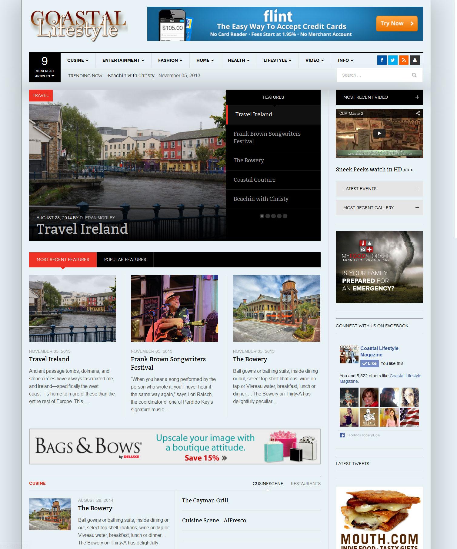 Magazine web site Magazine Web Site - Coastal Lifestyle Magazine