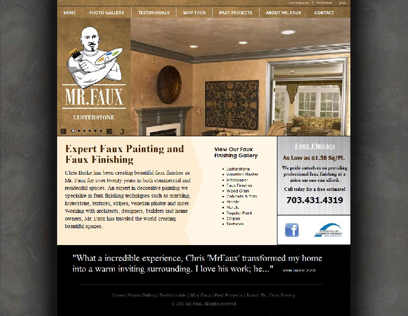 Contractor Web site Contractor Web Site - Mr. Faux