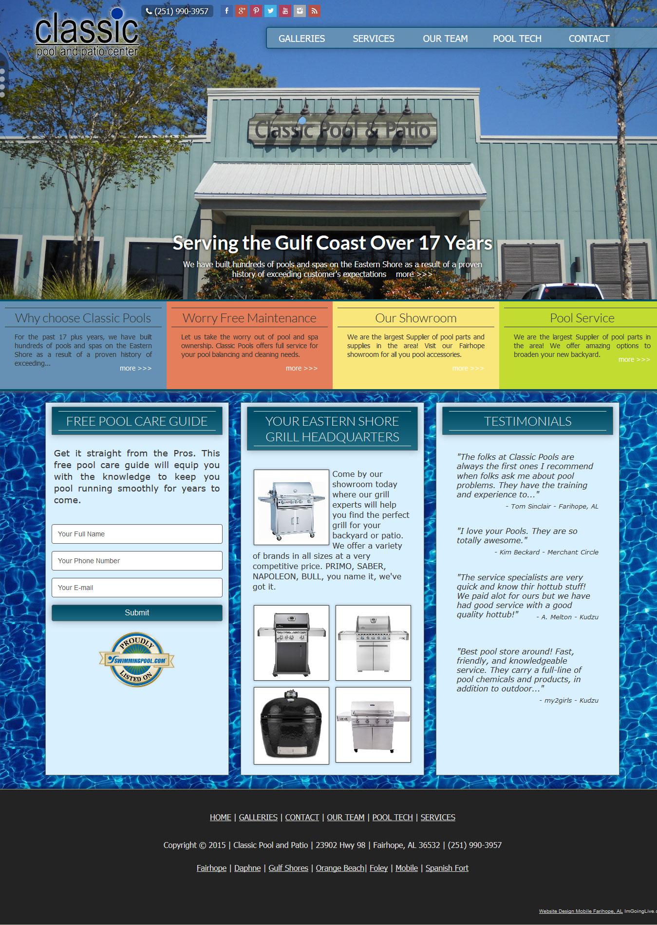 Swimming Pool web site Swimming Pool Company - Classic Pool