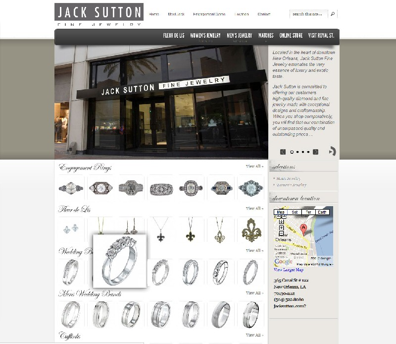 Jewelry Store web site Jewelry Store Web Site - Jack Sutton