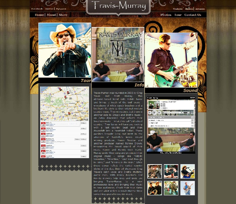 Web site design Band Web Site - Travis Murray