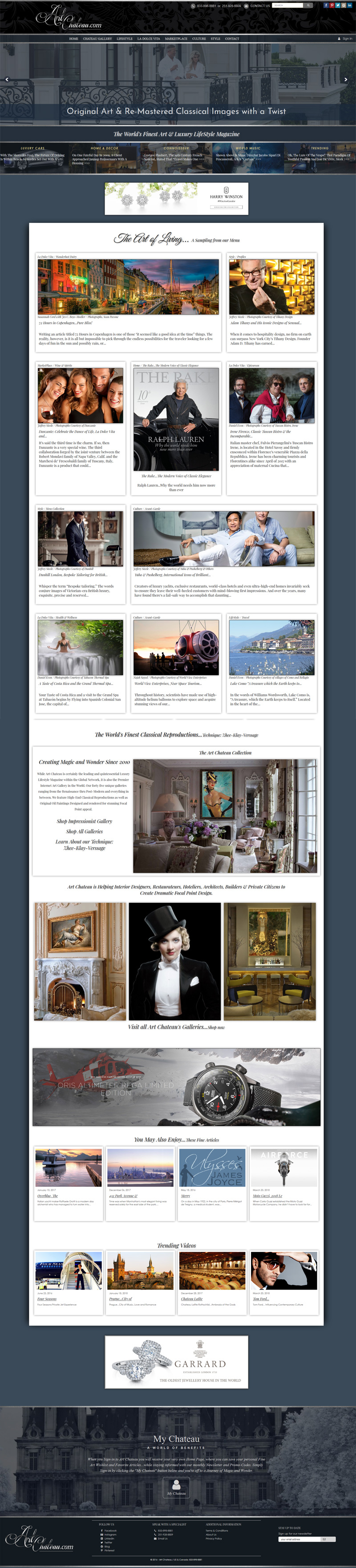 Artchateau Artchateau Magazine and E-Commerce Website